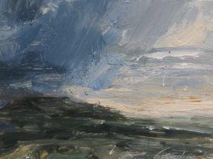 Deep blue cloud (near Zennor)