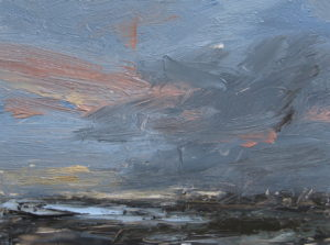 Last light, Dorset coast