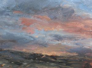 Moorland, sky glowing