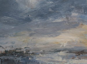 Soft grey cloud, coast