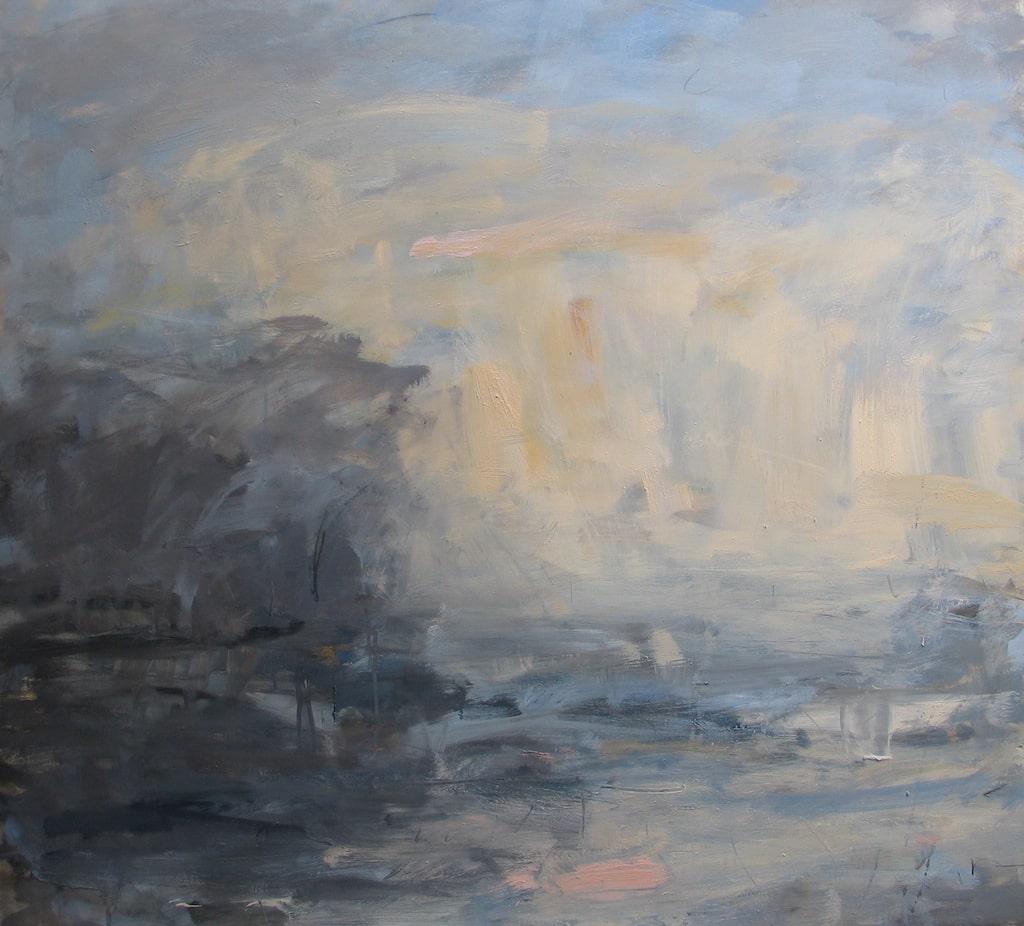 Louise Balaam 'Blue and golden light, rising'