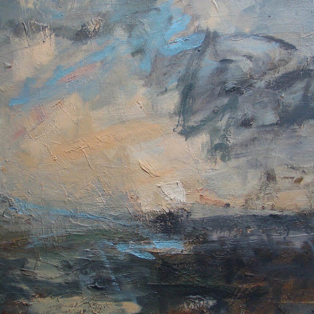 Louise Balaam 'Cream, cloud scribble'