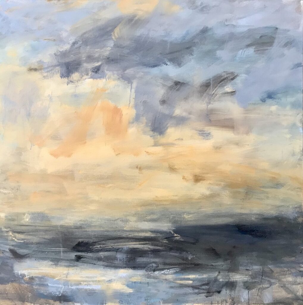 Louise Balaam 'Highlands sky, blue and gold'
