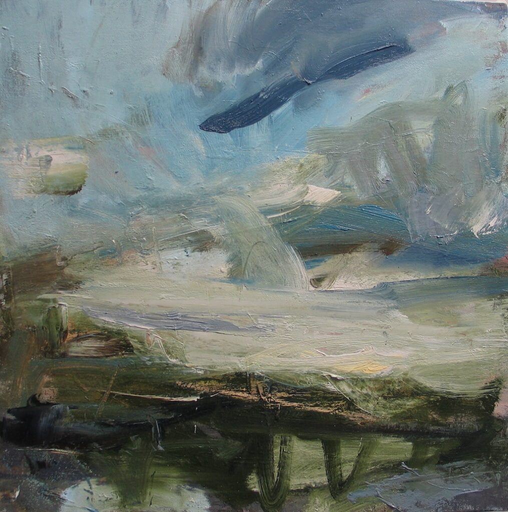Louise Balaam Sap green and turquoise light